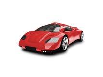 Opinião dianteira do carro super vermelho ilustração royalty free
