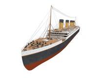 Opinião dianteira do forro grande do navio ilustração royalty free
