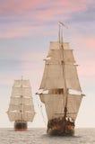 Opinião dianteira dos navios altos Imagens de Stock Royalty Free