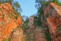 Opinião dianteira grande de Leshan Buddha Imagens de Stock Royalty Free