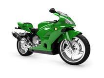 Opinião dianteira isolada da motocicleta Fotos de Stock Royalty Free