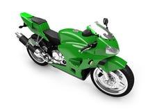 Opinião dianteira isolada da motocicleta ilustração stock