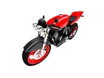 Opinião dianteira isolada da motocicleta ilustração royalty free