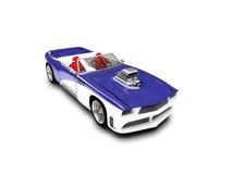 Opinião dianteira isolada do carro azul ilustração stock