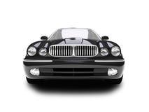 Opinião dianteira isolada do carro azul ilustração do vetor