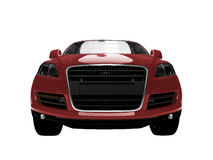 Opinião dianteira isolada do carro vermelho   ilustração royalty free