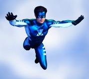 Opinião dianteira masculina do herói super ilustração do vetor