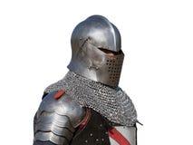 Opinião dianteira o cavaleiro medieval foto de stock