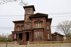 Opinião dianteira Victoria Mansion histórica, Portland, Maine, 2016 imagens de stock royalty free