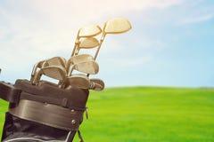 Opinião diferente do close-up dos clubes de golfe Fotografia de Stock Royalty Free