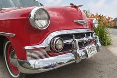 Opinião direita dianteira de Chevrolet Bel Air 1953 Imagens de Stock Royalty Free
