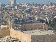 """Opinião do †da skyline do Jerusalém """"do Monte das Oliveiras Fotos de Stock Royalty Free"""