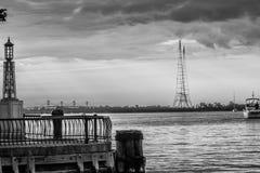 Opinião do amanhecer da baía de chesapeake Imagem de Stock Royalty Free