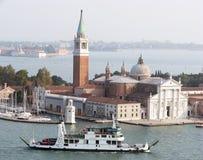 Opinião do ar do console de Giorgio Maggiore de Saint Fotos de Stock Royalty Free