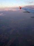 Opinião do avião fotografia de stock