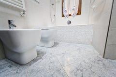 Opinião do banheiro da parte inferior fotografia de stock royalty free