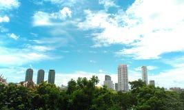 Opinião do céu da paisagem de Banguecoque Fotografia de Stock Royalty Free