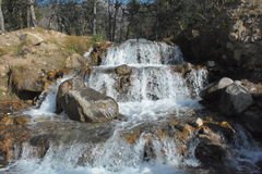Opinião do córrego da água - Naran Paquistão Fotografia de Stock
