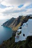 Opinião do Caldera de Fira a Imerovigli na ilha de Santorini Imagem de Stock Royalty Free