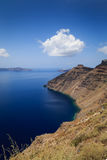 Opinião do Caldera, Santorini Fotografia de Stock Royalty Free