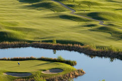 Opinião do campo de golfe Foto de Stock