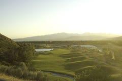 Opinião do campo de golfe de acima Fotos de Stock