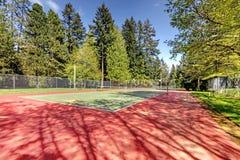 Opinião do campo de tênis fotos de stock royalty free