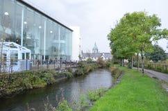 Opinião do canal de Eglinton em Galway, Irlanda Fotografia de Stock Royalty Free