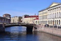 Opinião do canal de St Petersburg, Rússia Foto de Stock