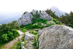 Opinião do castelo de Kantara Imagens de Stock Royalty Free