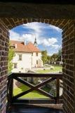 Opinião do castelo do Saltworks da torre Foto de Stock Royalty Free