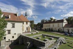 Opinião do castelo do Saltworks da torre Imagens de Stock