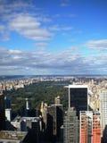 Opinião do Central Park de cima de Fotografia de Stock Royalty Free