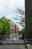 Opinião do centro da rua da cidade Foto de Stock Royalty Free