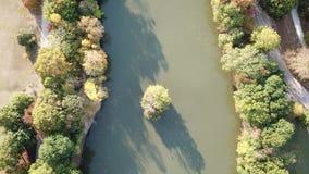 Opinião do centro de Atlanta Georgia Aerial filme