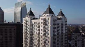 Opinião do centro de Atlanta Georgia Aerial video estoque