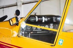 Opinião do close up da cabina do piloto agrícola do avião de Zlin Z-37 Cmelak da parte externa feita em Checoslováquia Imagens de Stock