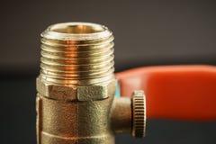 Opinião do close-up da válvula de bola Imagens de Stock