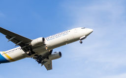 Opinião do close-up de Boeing 737 Fotos de Stock Royalty Free