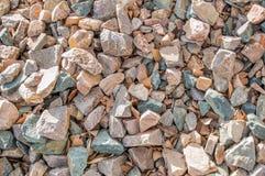 Opinião do close-up de pedras esmagadas Imagem de Stock Royalty Free