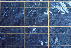 Opinião do close up do painel solar fotos de stock