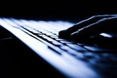 Opinião do close up do teclado fotografia de stock royalty free