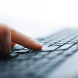 Opinião do close up do teclado foto de stock royalty free