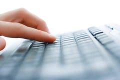 Opinião do close up do teclado foto de stock