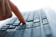 Opinião do close up do teclado fotos de stock royalty free