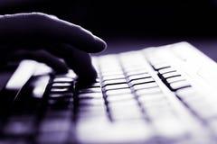 Opinião do close up do teclado imagem de stock
