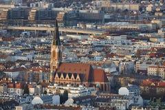 Opinião do crepúsculo de Viena imagens de stock royalty free