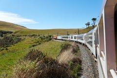 Opinião do curso da estrada de ferro fotografia de stock royalty free