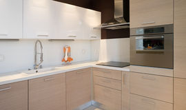 Opinião do detalhe da cozinha Foto de Stock
