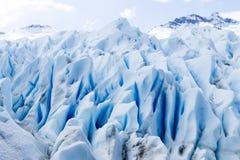 Opinião do detalhe das formações de gelo da geleira de Perito Moreno fotografia de stock royalty free